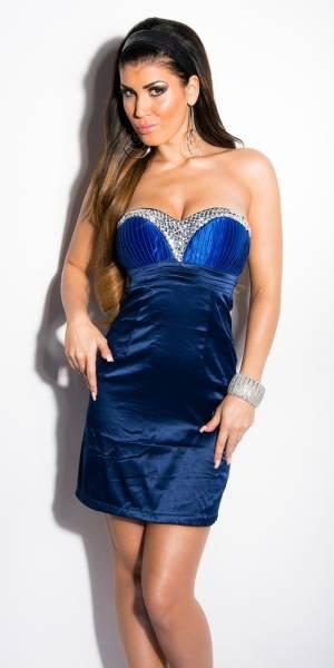 Alkalmi ruha, csodás, köves, koktél - kék