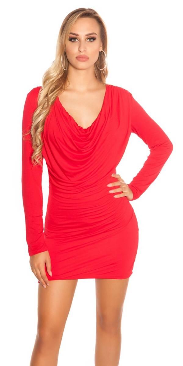 Alkalmi ruha, derekán díszes, GS07 - piros