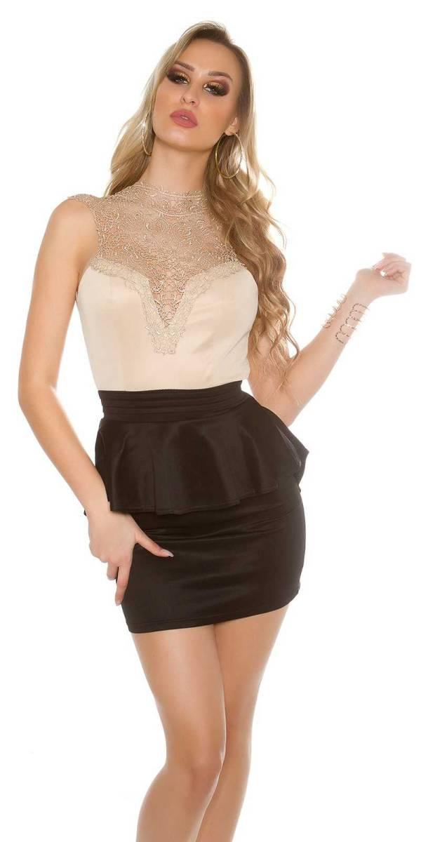 Alkalmi ruha gs30832 - bézs-fekete