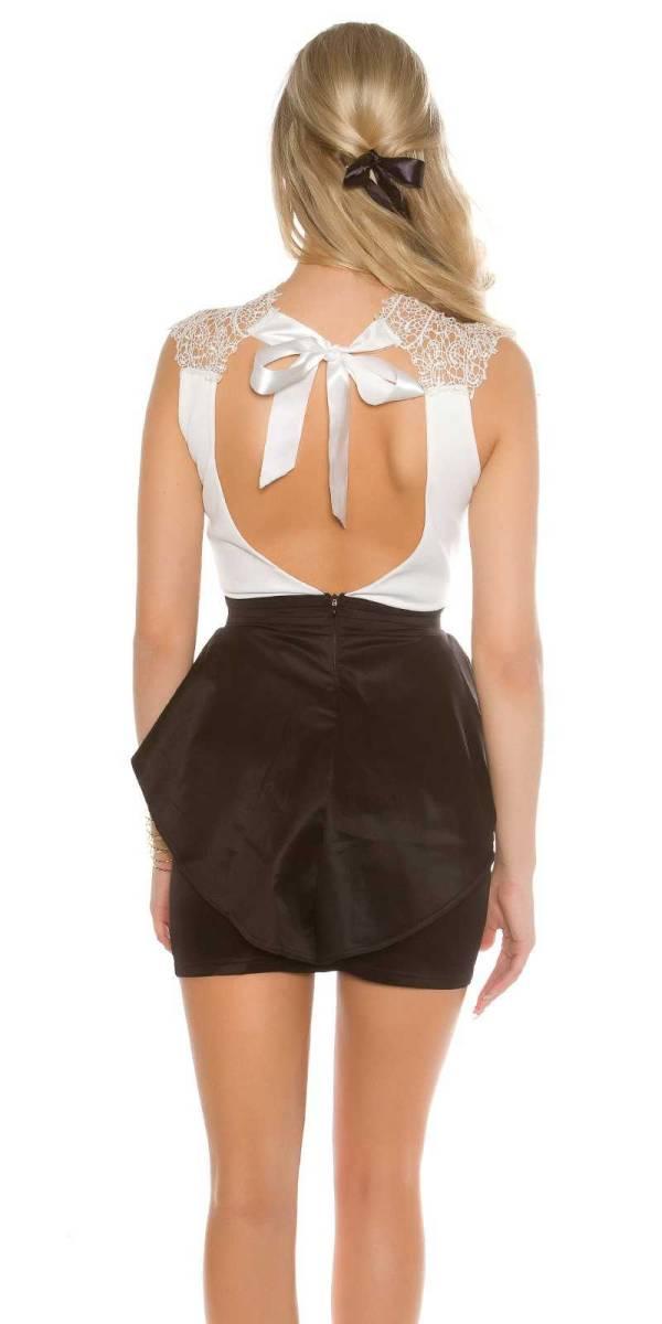 Alkalmi ruha gs30832 - fehér-fekete