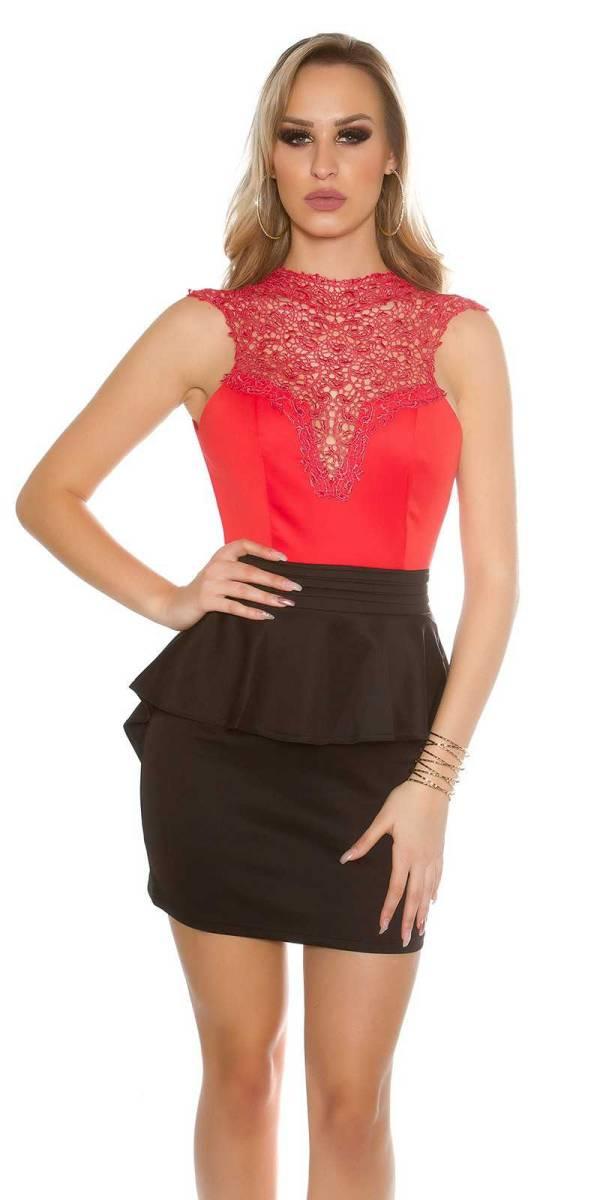 Alkalmi ruha gs30832 - piros-fekete