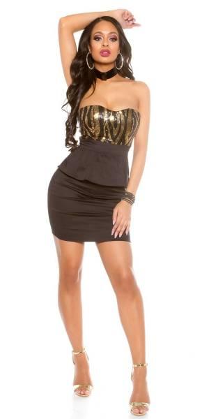 Alkalmi ruha gs60888 - fekete-arany