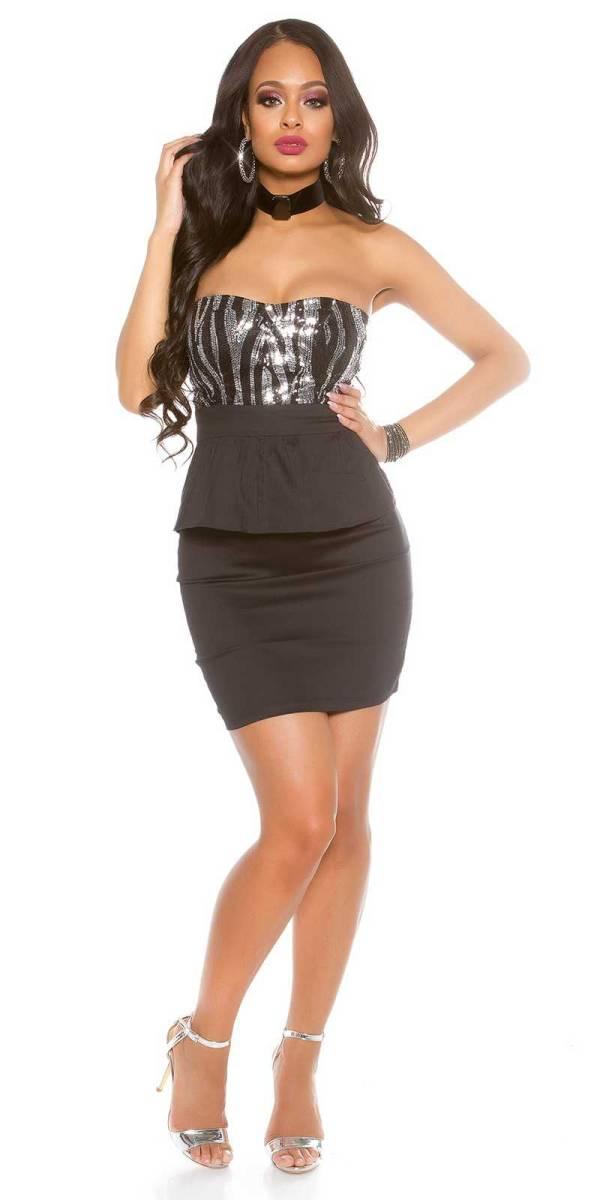 Alkalmi ruha gs60888 - fekete-ezüst