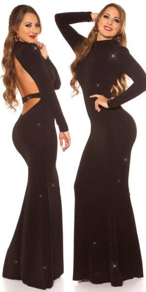 Alkalmi ruha gs94959 - fekete-arany