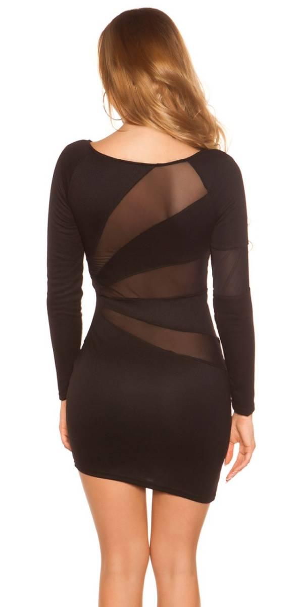 Alkalmi ruha, hosszú ujjú, GS08 - fekete