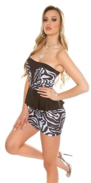 Alkalmi ruha, koktélruha, csinos - zebrafekete