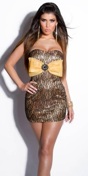 Alkalmi ruha, különleges, mini, masnis - arany