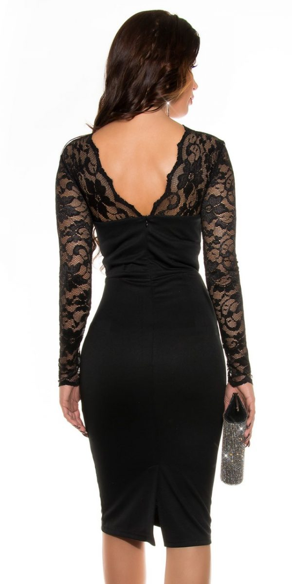Alkalmi ruha, midi, gs40883 - fekete
