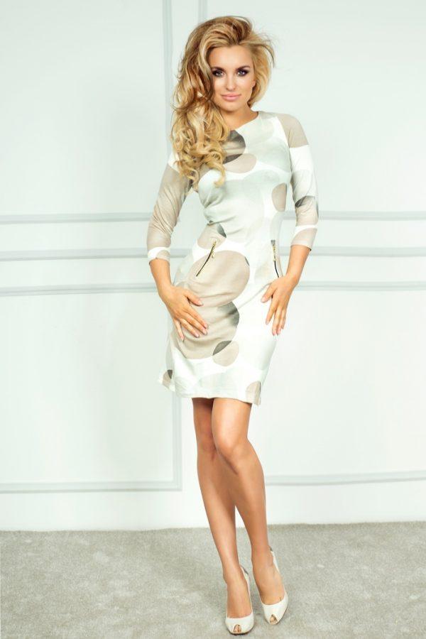 Női ruha, kör mintás, no-38-4