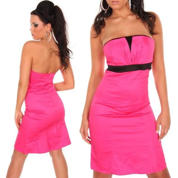 Alkalmi ruha, szűk fazonú, koktél - pink