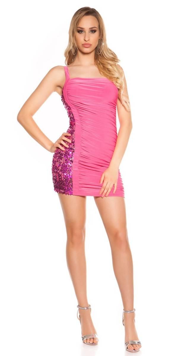 Alkalmi ruha, ujjatlan, sztreccs - pink