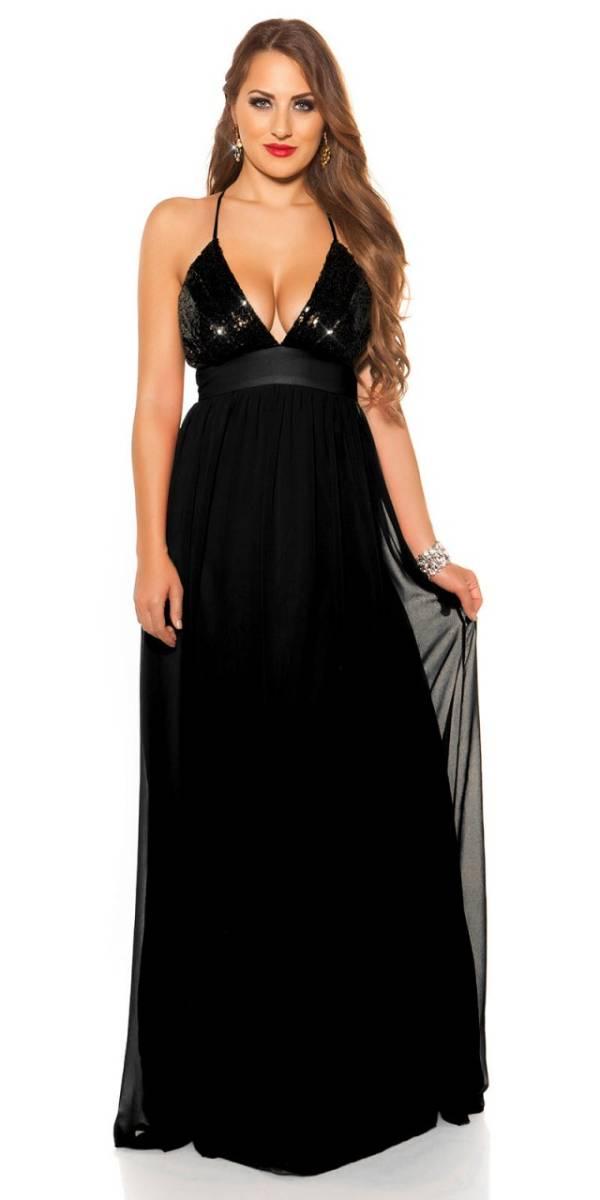 Estélyi ruha gs78957 - fekete
