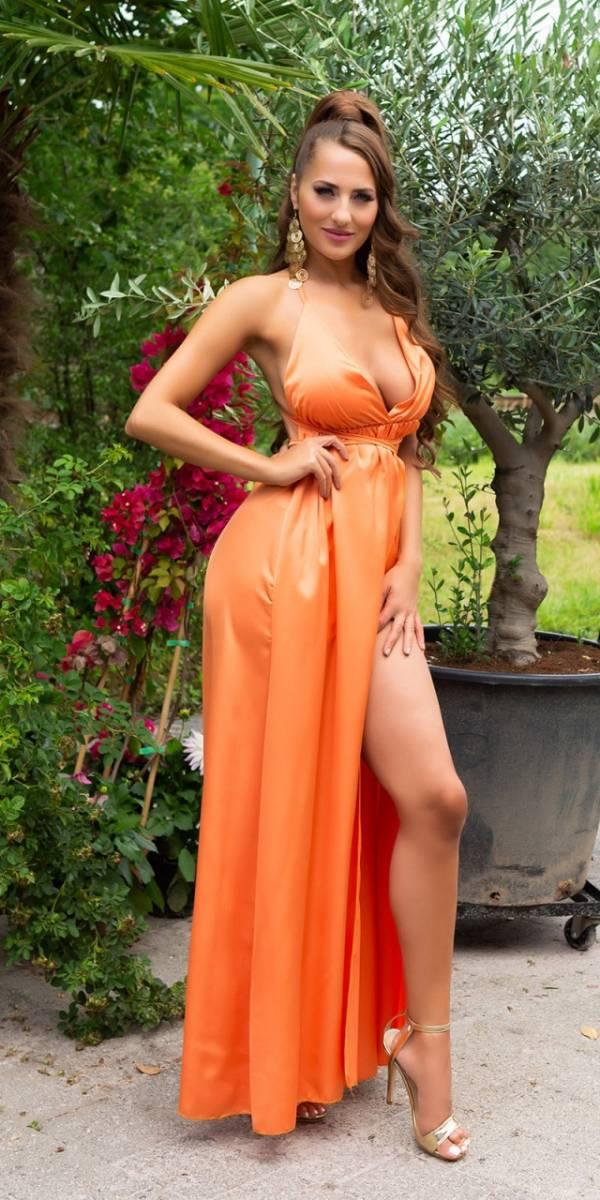 Estélyi ruha gs81028 - narancs