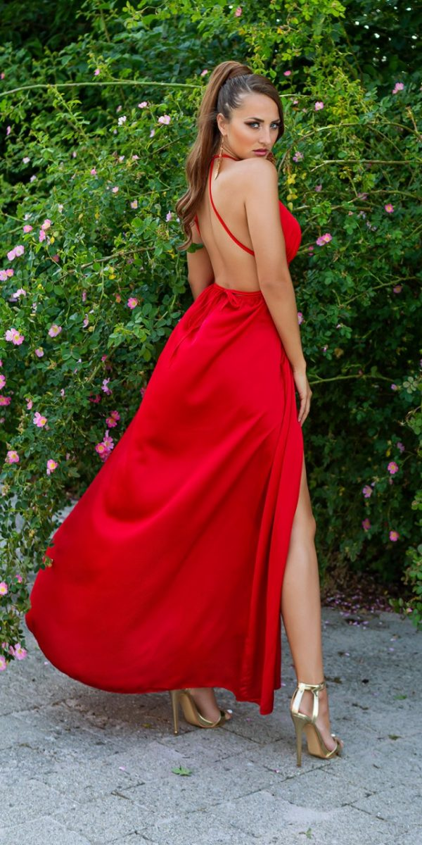Estélyi ruha gs81028 - piros