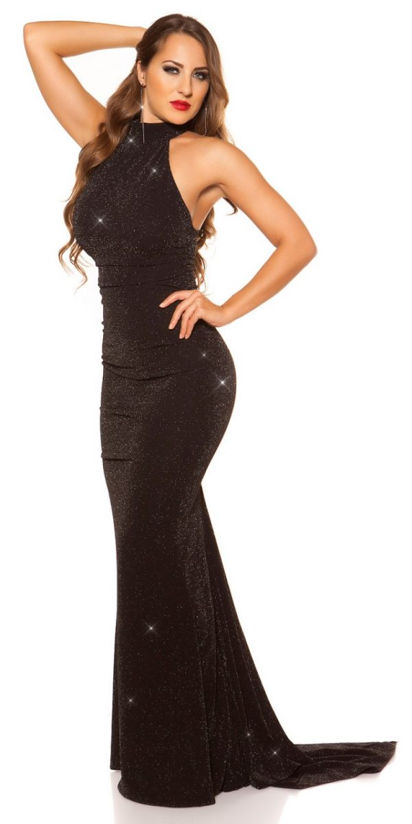 Estélyi ruha gs83463 - feketeezüst
