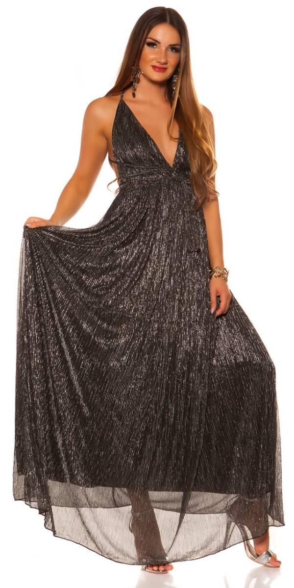 Estélyi ruha gs86534 - feketeezüst