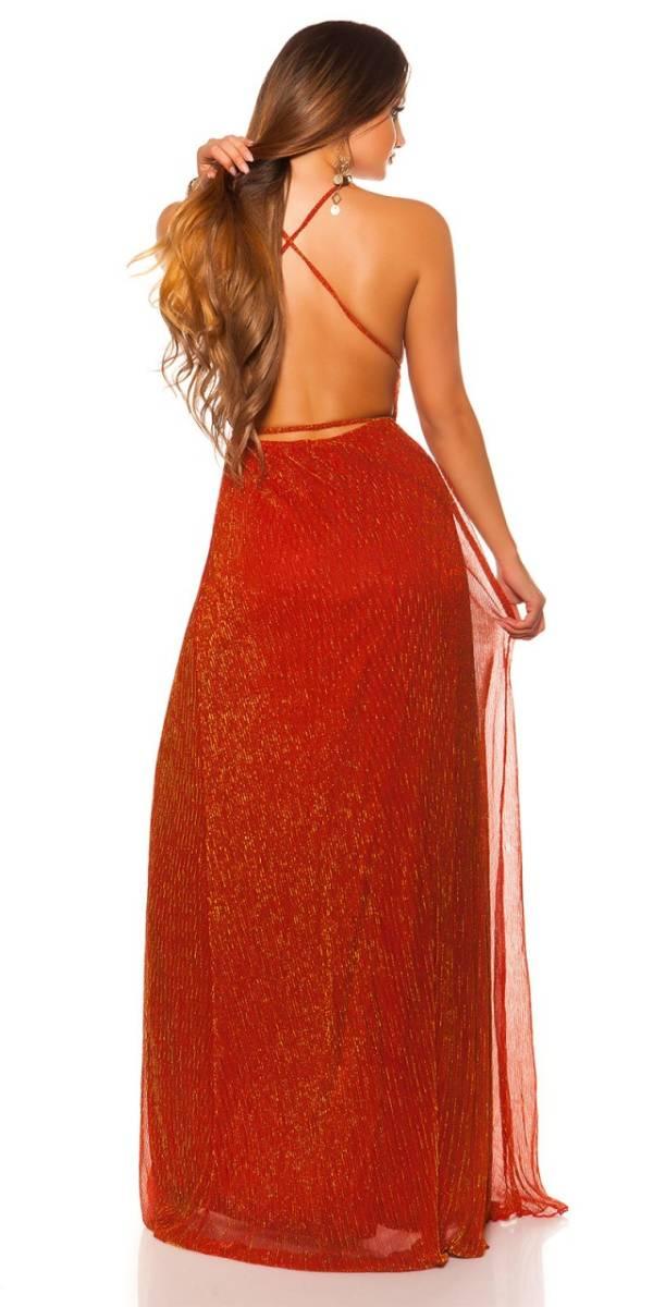 Estélyi ruha gs86534 - pirosarany