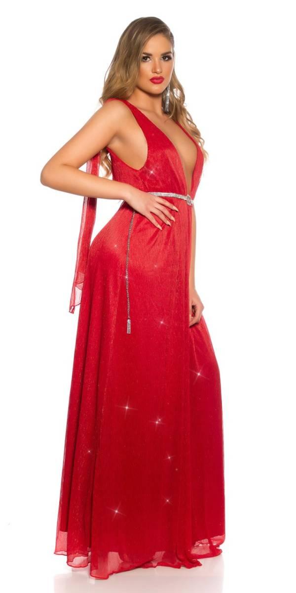 Estélyi ruha gs92707 - piros