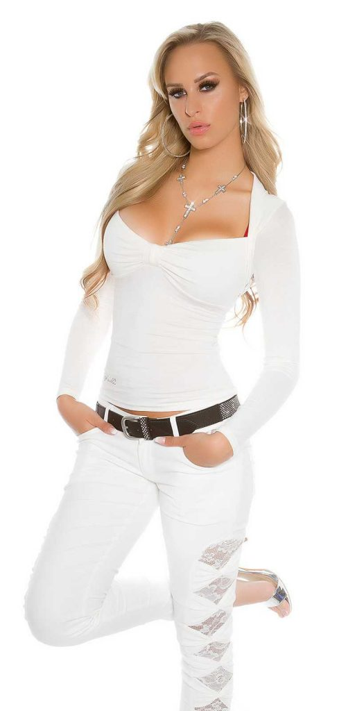 Női felső gs33317 - fehér
