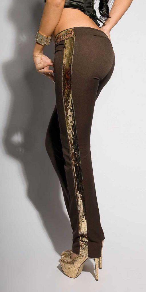 Női nadrág gs39560 - csokoládé