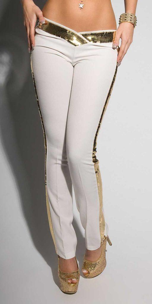 Női nadrág gs39560 - fehér-arany