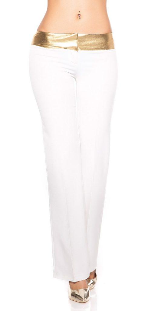 Női nadrág gs58704 - fehér-arany