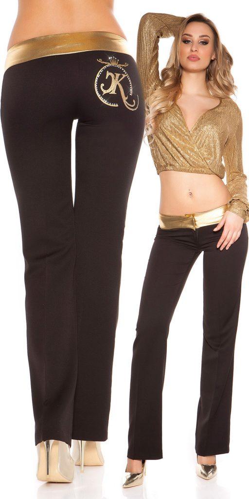Női nadrág gs58704 - fekete-arany