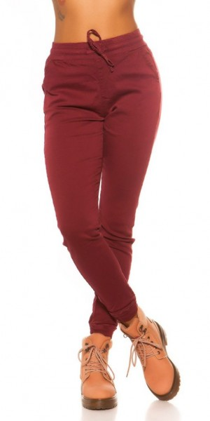 Női nadrág gs93112 - bordó