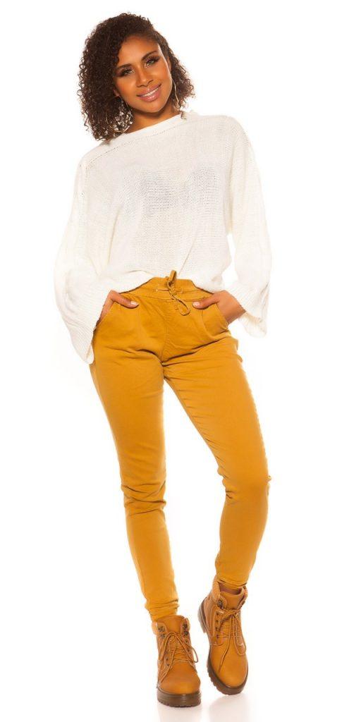 Női nadrág gs93112 - mustár