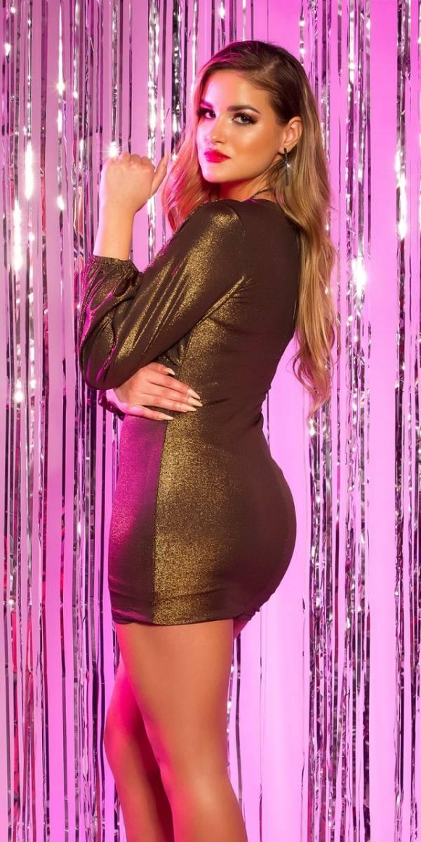 Party ruha, fényes, gs14960 - bronz