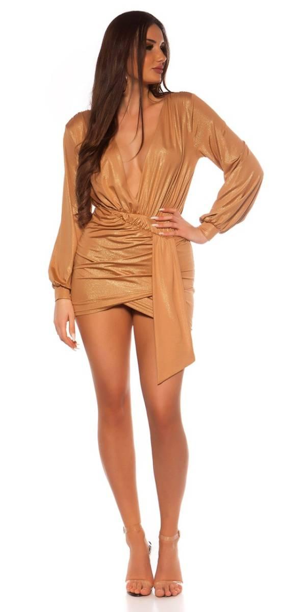 Party ruha gs53576 - arany