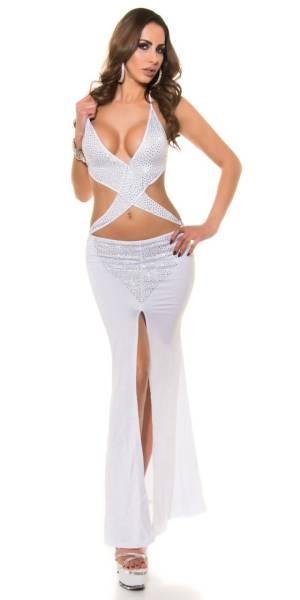 Party ruha gs98138 - fehér