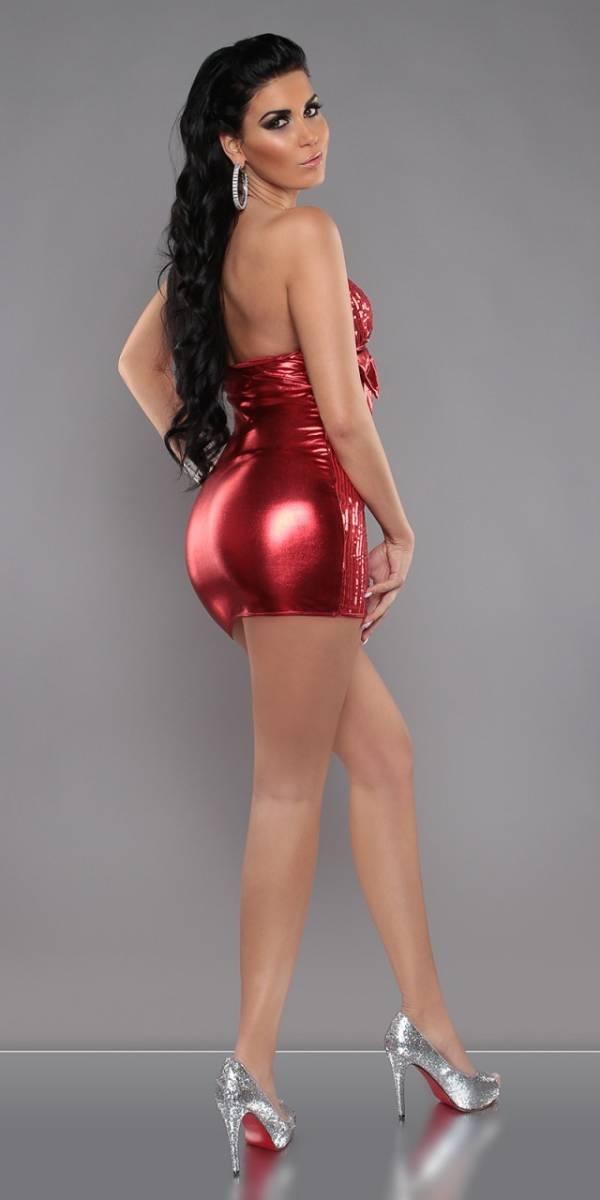 Party ruha, különleges, flitterekkel - piros