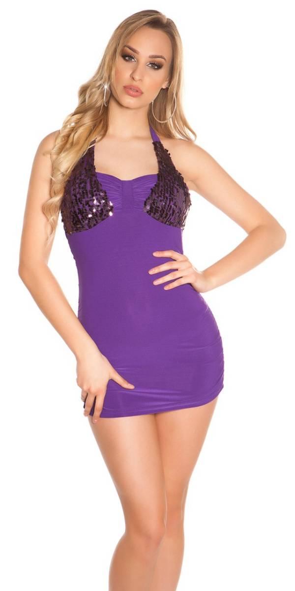 Party ruha, nyárias, flitteres - lila