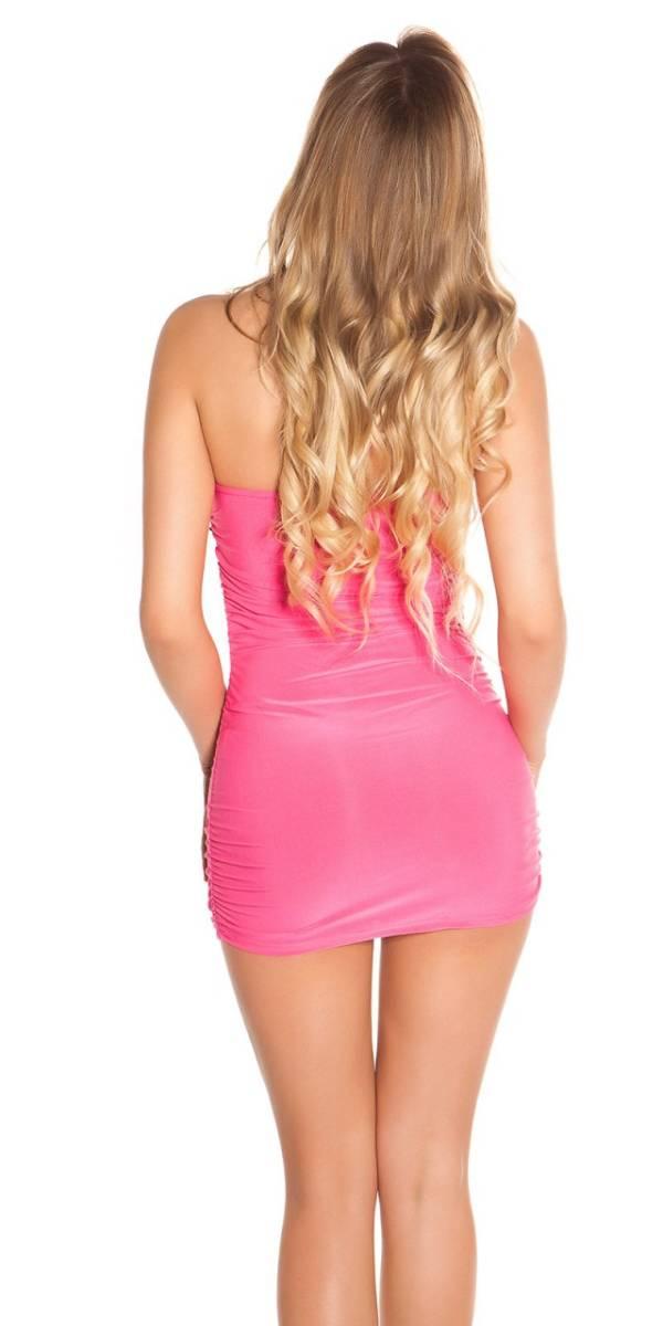 Party ruha, nyárias, flitteres - pink