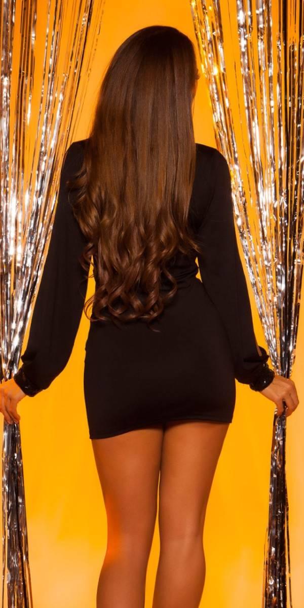 Party ruha, ujján nyitott, gs269 - fekete