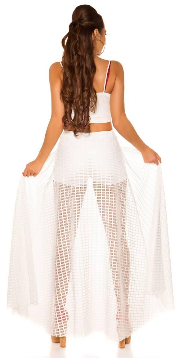 Party short, szoknyával gs35921 - fehér